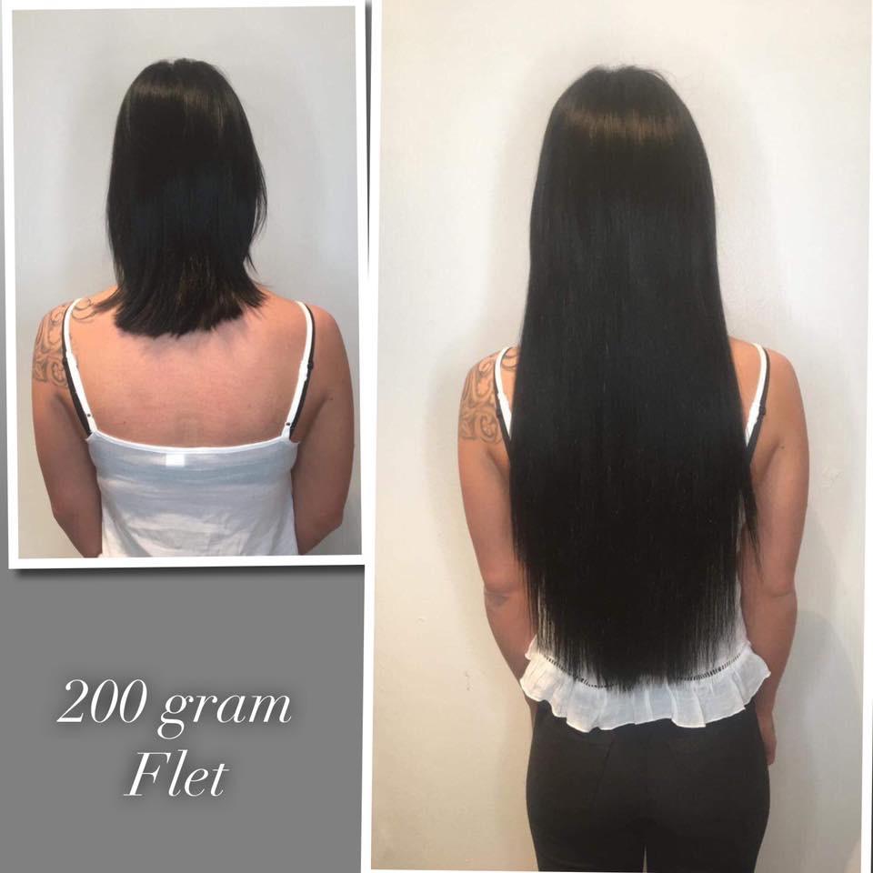 200 gram flette extensions