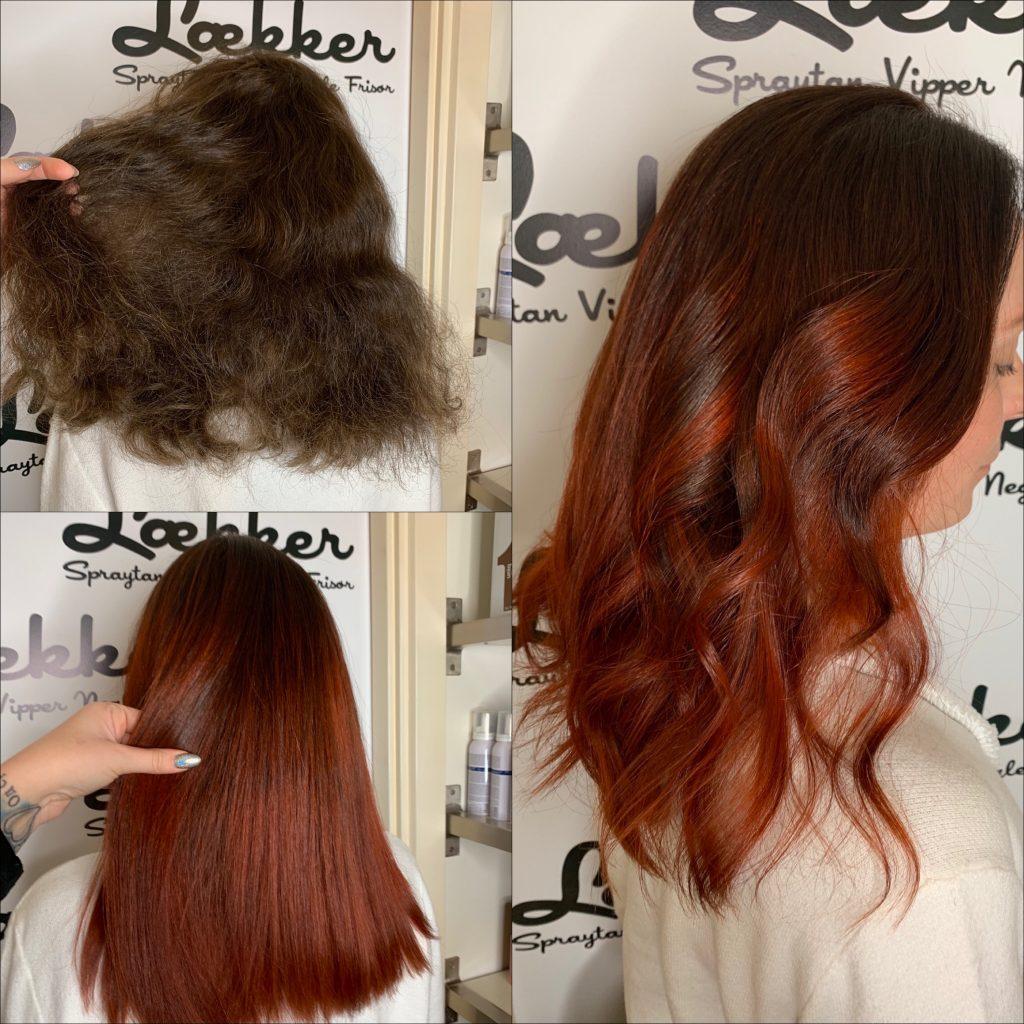 før og efter frisør